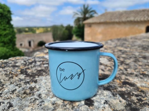 Be Lazy Emaille Tasse mint